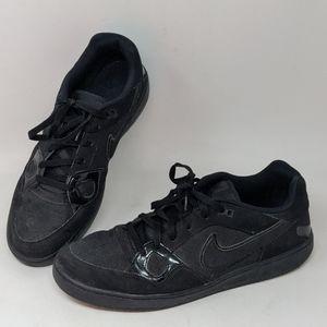 Nike Air Force 1 triple triple black leather shoes